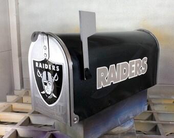 Custom Airbrushed Raiders Mailbox