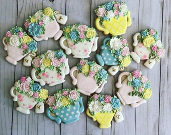 Great for bridal shower Teapot Sugar Cookies birthday celebration or any other occasion