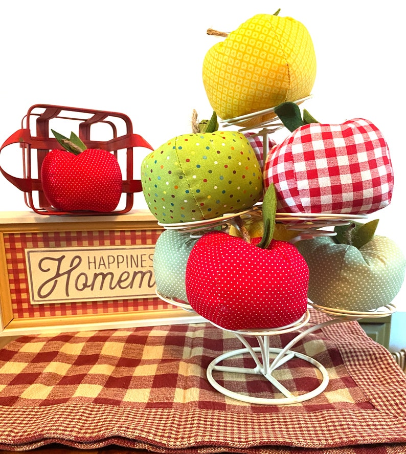 Farmhouse Apples for Tier Trays or Baskets Red Yellow and image 0