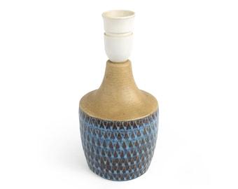 Vtg Søholm Soholm Denmark Einar Johansen Blue Glazed Table Lamp Handmade Stoneware Danish Pottery Midcentury Modern Collectibles