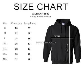 Gildan size charts   Etsy