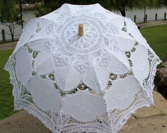 Lace Bridal Parasol,Wedding Parasol,Brides lace Umbrella,Wedding umbrella,Lace umbrella,Bridesmaids Parasol,Sun parasol.Choice of 7 colours