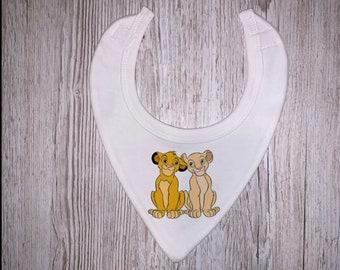 Simba Timon and Pumbaa Baby Bib Gift New baby Birthday Gift New Arrival