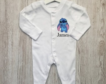 Name Baby Bodysuit Hospital Outfit Personalised Sleepsuit Alphabet Sleepsuit Baby Boy Gift