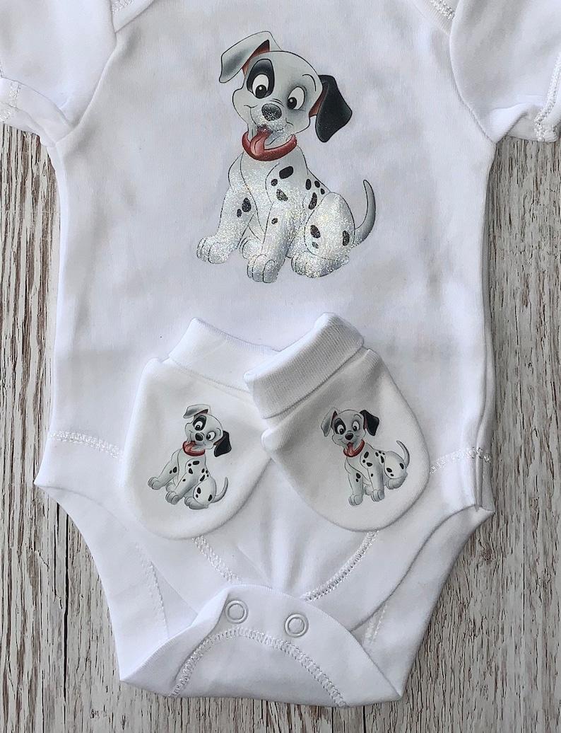 Dalmatian Baby Bodysuit /& Mitts Gift Set New baby Birthday Gift New Arrival