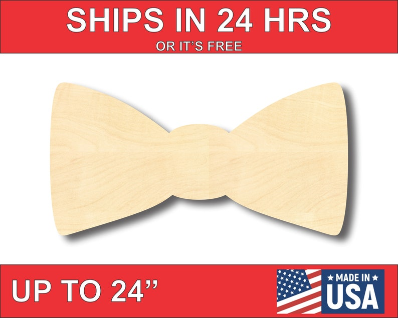 Unfinished Wooden Bow Tie Shape  Groomsmen  Craft  up to image 0
