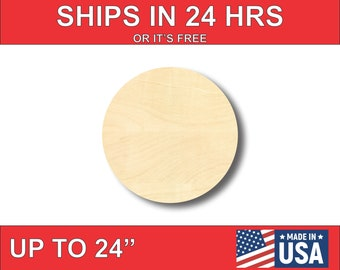 """Unfinished Wooden Circle Shape - Craft - up to 24""""  DIY"""