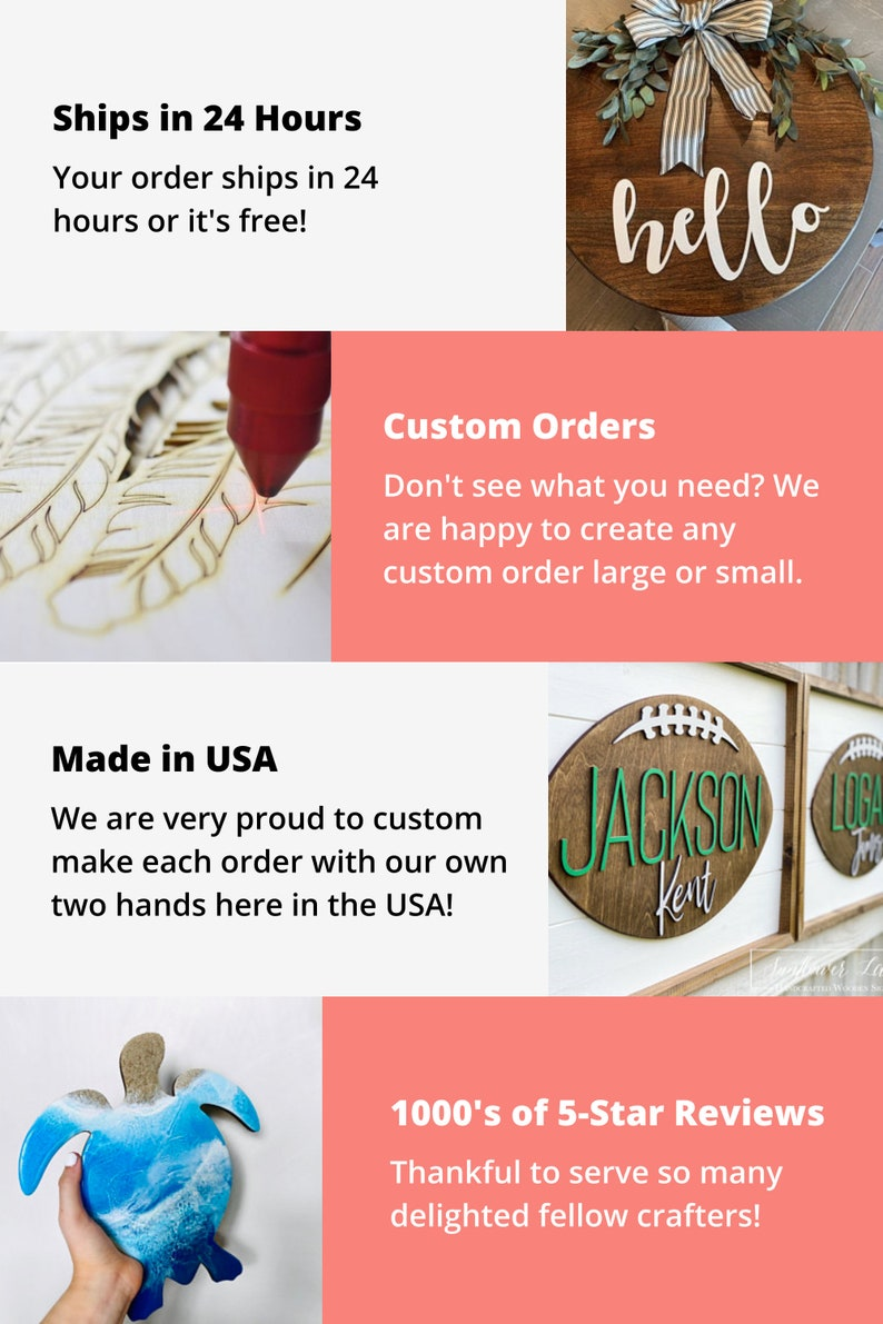 Unfinished Wooden Rounded Square Shape up to 24  DIY Craft Custom Tags