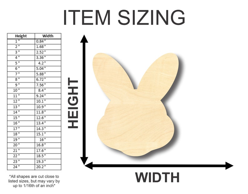 Craft up to 24  DIY Unfinished Wooden Easter Bunny Head Shape