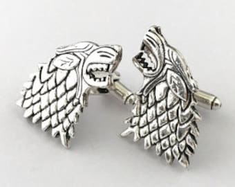 A Song of Ice /& Fire Father/'s Day Gift House Stark Tie Clip Gift for Him Game of Thrones Stark Tie Tack Geekery Lapel Pin
