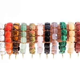 Adam Collection Beaded Bracelet / Jewelry / Gemstone / Yoko Charm / Slip-on / Stretch