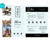 Media Kit for Travel Bloggers, Influencer Media Kit,  Canva Media Kit, Press Kit, Media Kit 2 Page Template, Rate Sheet