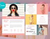 Media Kit for Bloggers, Influencer Media Kit,  Canva Media Kit, Press Kit, Media Kit 2 Page Template, Rate Sheet