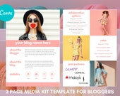 Media Kit for Bloggers, Influencer Media Kit,  Canva Media Kit, Press Kit, Media Kit 2 Page Template, Rate Sheet