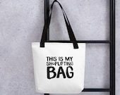 Shoplifting Bag | Unique gifts | Canvas tote bag | Funny Tote Bag | punk rock | grunge | rock | reusable shopping bag | sarcastic | giftidea