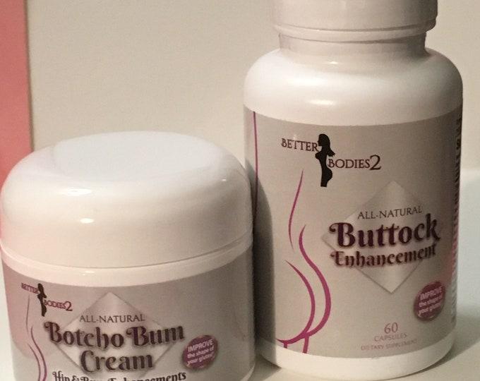 Butt Enhancement & Enlargement Cream and Supplement, Bigger Fuller Buttocks 100% Natural Enhancer for Women, Womens Butt Lifting Cream 2021