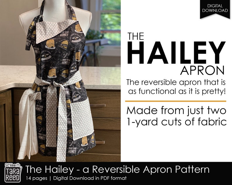 The Hailey Reversible Apron Pattern image 0