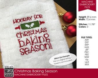 Christmas Baking Season - Machine Embroidery Design for Christmas