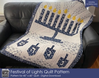 Festival of Lights Quilt Pattern by Tara Reed