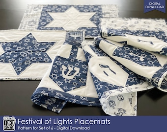 Festival of Lights Placemat Sew Pattern by Tara Reed
