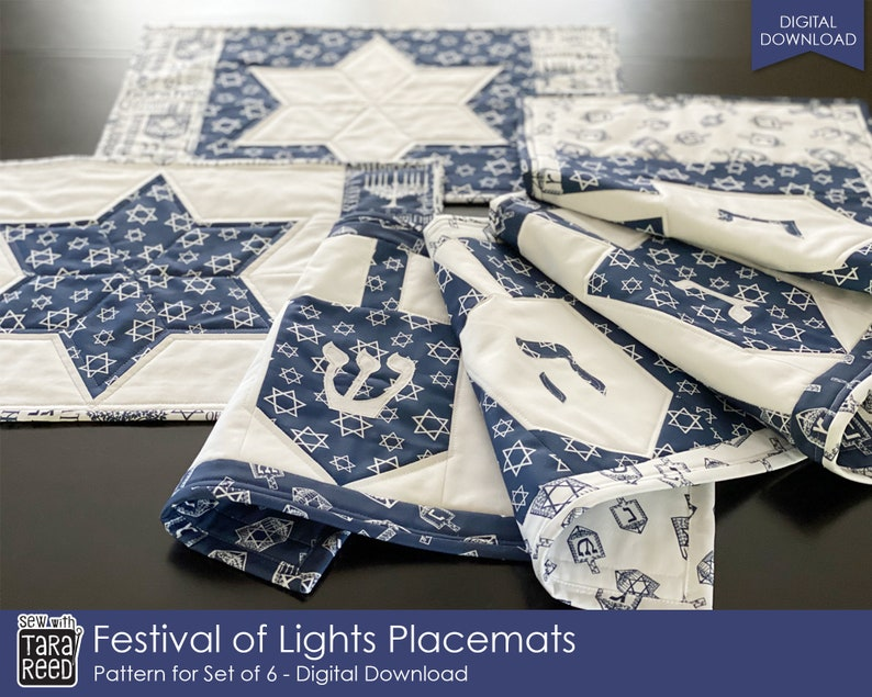 Festival of Lights Placemat Sew Pattern by Tara Reed image 0