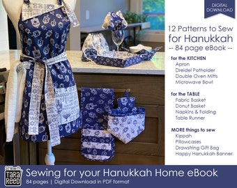 Sewing for your Hanukkah Home - 12 projects to make for the Holidays by Tara Reed