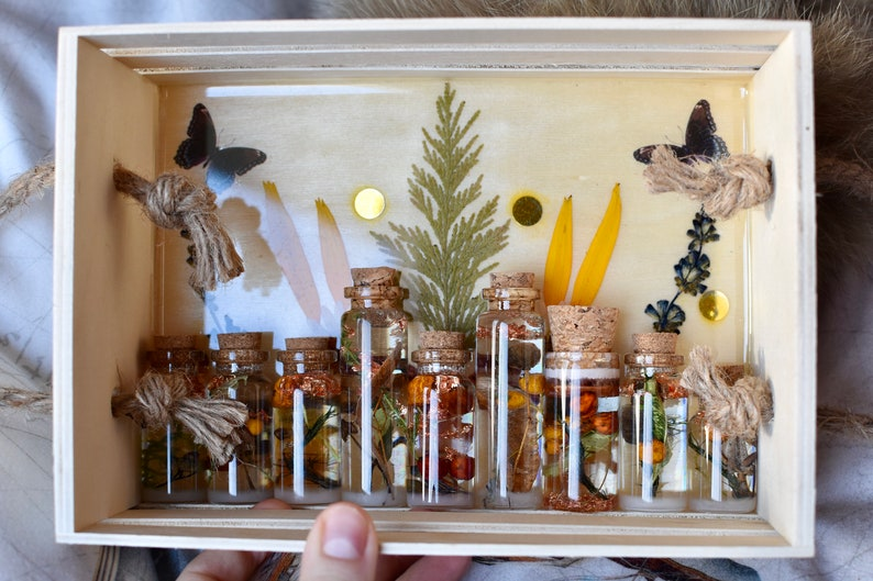 Fortune Plate Spell Glass Forest Spirits Witchcraft Divination Self love Spirit Jar Personalize your Enchanted Forest Bottle