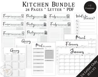 Food Inventory Bundle, Kitchen Inventory Bundle, Pantry Inventory, Fridge Inventory, Freezer Inventory, Food Tracker, Meal Planner