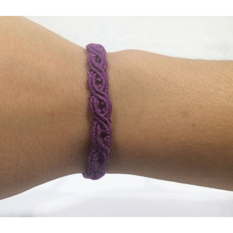 purple macrame bracelet   multi-colored bracelet  gift to beloved  a gift to her and him