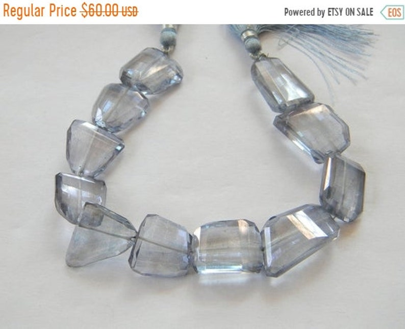 17-25 mm approx size 8 inch strand Mystic Blue Quartz Nuggets Faceted Beads 1 strand