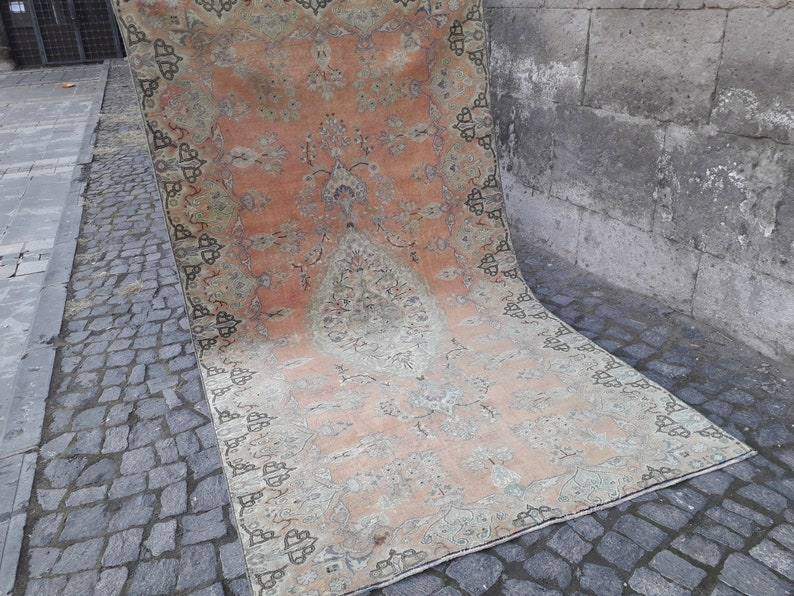 Faded 4.79/'/'x 8.37/'/' Rug Orange , Gray 5x8 Boho Rug handmade Rug Rug anatolian rug,vintage kitchen rug Absolutely Beautiful Rug
