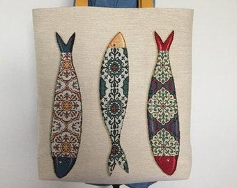 Screenprinted cotton tote bag by Mike Levy /'Chip Thief/' seagullchipsbirdbeachsea
