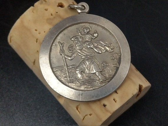 St Christopher Sterling Silver Pendant By C & T - image 6