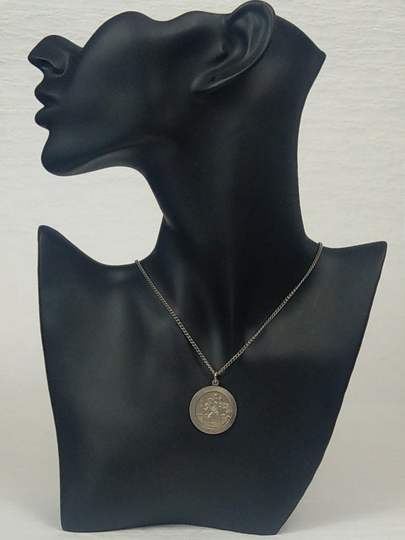 St Christopher Sterling Silver Pendant By C & T - image 3