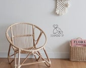 Vintage Rattan Children s Chair