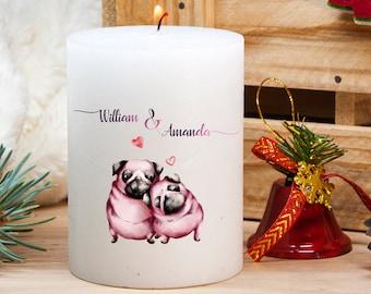 PUG Flameles Candle-PUG Silohette Candle