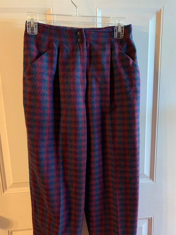 Vintage 80's Plaid Pants - It has pockets!   Vint… - image 1