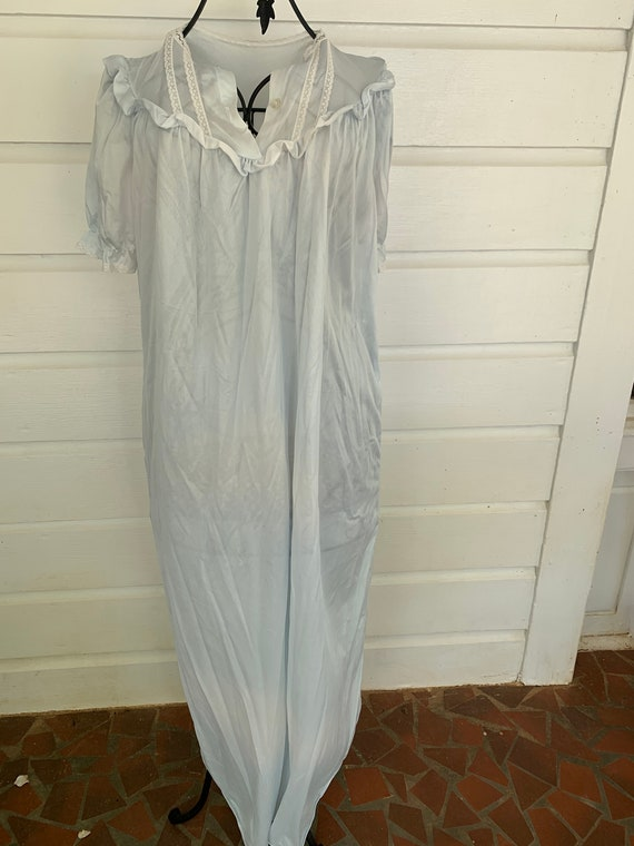 "Vintage 80's Blue Silk ""Wendy"" Nightgown 