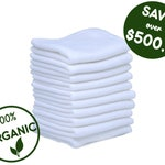 Reusable bamboo baby wipes - Organic cloth toilet paper - Eco friendly baby gift - Zero waste