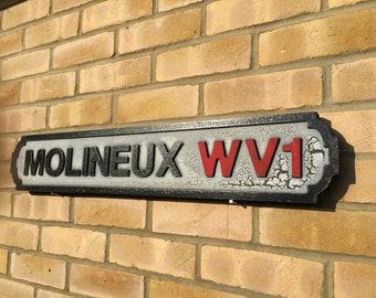 WOLVERHAMPTON WANDERERS FANS NORTH BANK  Retro Vintage  Metal Wall Sign