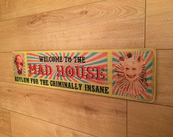 Wall of Death Vinatge Style Metal Sign Kitchen  Vintage Fairground Sign Sideshow