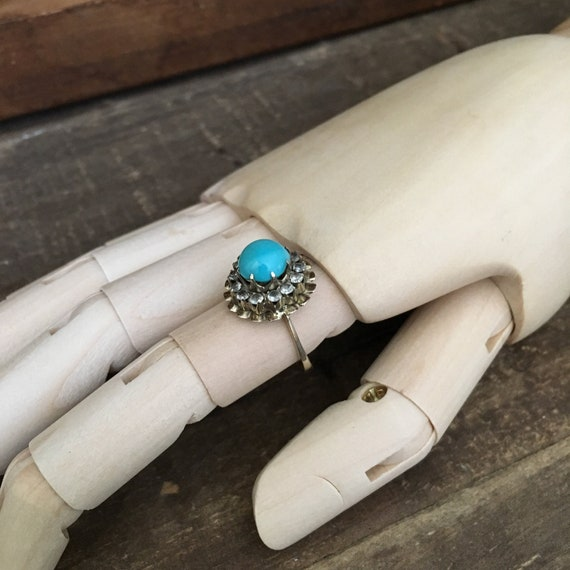 Vintage Persian Turquoise & 14k Gold Ring