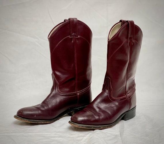 Vintage 1970's Laredo 6.5 M Roper Leather Cowboy B