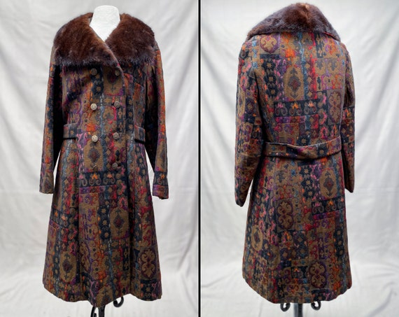 1960's Betty Rose Brocade Tapestry Jacket   Real F