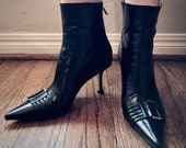Vintage Witchy Goth Jimmy Choo Heeled Ankle Boots Saber Style Boot Kix Style Boot - EU 37 (US 6.5)