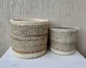 SALE Sisal woven planters, Succulent planters, Woven flower planter, Toy storage basket, Decorative basket, Handmade basket, Boho planter