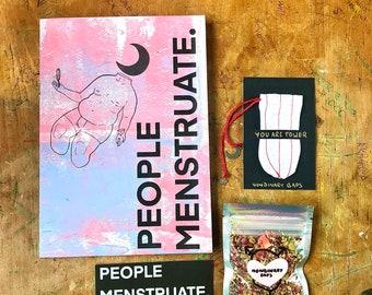 Tampon Teabag and People Menstruate Zine pack