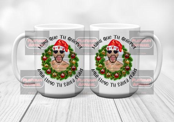 Santa Bad Bunny Christmas Coffee Mug
