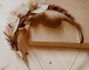 Dry flower hairband, dry flowers hair accessories, headband
