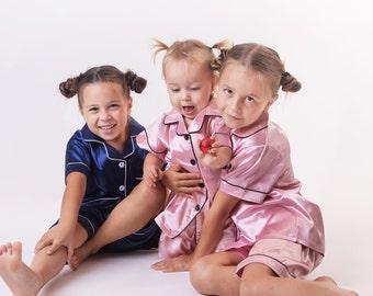50% Matching Kids Pajamas | Family Christmas Pajamas | Kids Satin Pajamas | Satin Customized Pajamas | Kids Party Pajamas | Sleepover Pajama
